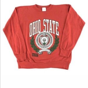 Sweaters - OHIO DTATE UNIVERSITY vintage red crewneck!